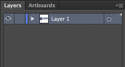 Illustrator Layers Panel, only a single layer