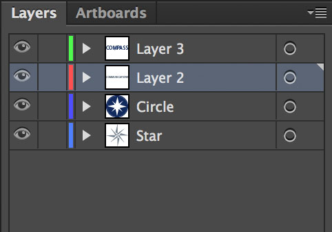 Illustrator file with multiple layers